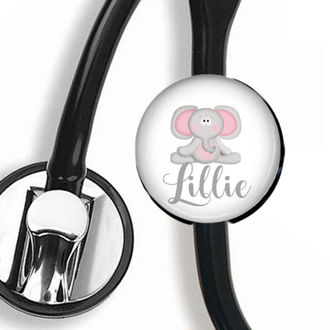 Interchangeable Personalized Stethoscope ID tag, S026 | Badges and Buttons Club