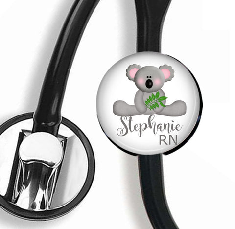 Interchangeable Personalized Stethoscope ID tag, S028 | Badges and Buttons Club