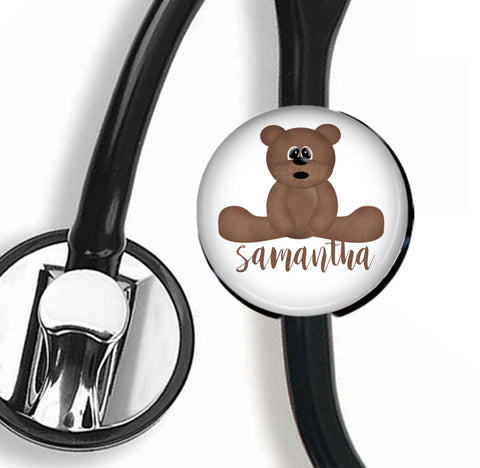Personalized Stethoscope ID tag, Interchangeable Stethoscope ID Tag, Stethoscope Name ID tag, Stethoscope Name Tag, S030 - badges-and-buttons-club
