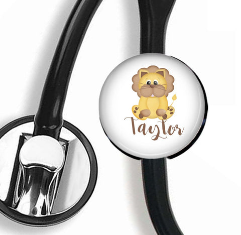Interchangeable Personalized Stethoscope ID tag, S031 | Badges and Buttons Club