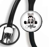 Interchangeable Personalized Stethoscope ID tag, S034 | Badges and Buttons Club