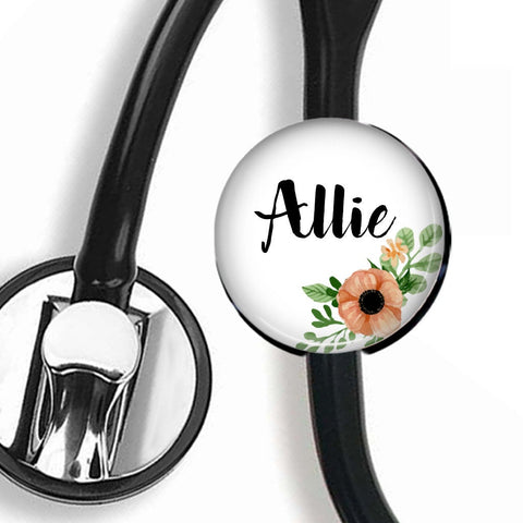 Interchangeable Personalized Stethoscope ID tag, S063 | Badges and Buttons Club