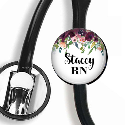 Interchangeable Personalized Stethoscope ID tag, S065 | Badges and Buttons Club