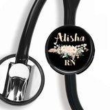 Interchangeable Personalized Stethoscope ID tag, S070 | Badges and Buttons Club