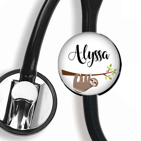 Interchangeable Personalized Stethoscope ID tag, S002 | Badges and Buttons Club