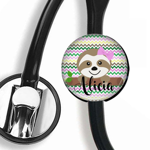Interchangeable Personalized Stethoscope ID tag, S005 | Badges and Buttons Club