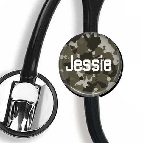 Interchangeable Personalized Stethoscope ID tag, S025 | Badges and Buttons Club