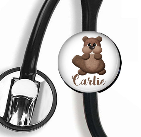 Interchangeable Personalized Stethoscope ID tag, S029 | Badges and Buttons Club