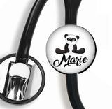Interchangeable Personalized Stethoscope ID tag, S032 | Badges and Buttons Club