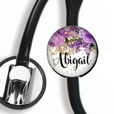 Interchangeable Personalized Stethoscope ID tag, S039 | Badges and Buttons Club