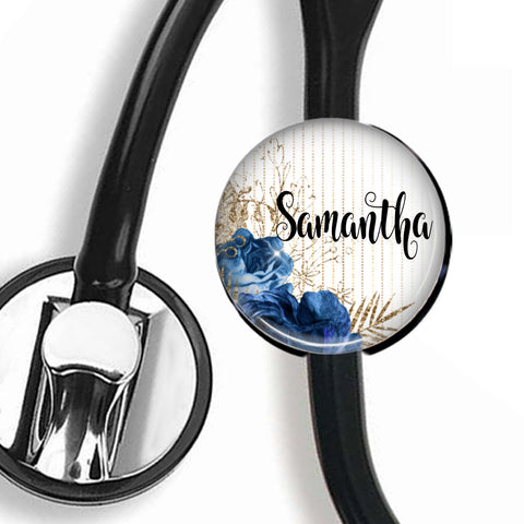 Interchangeable Personalized Stethoscope ID tag, S042 | Badges and Buttons Club