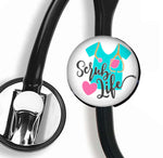 Interchangeable Stethoscope ID Tag, Nurse Stethoscope ID tag, SNS021 | Badges and Buttons Club