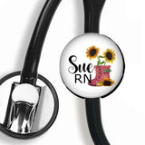 Interchangeable Personalized Stethoscope ID tag, S054 | Badges and Buttons Club