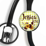 Interchangeable Personalized Stethoscope ID tag, S064 | Badges and Buttons Club