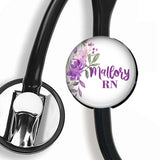 Interchangeable Personalized Stethoscope ID tag, S074 | Badges and Buttons Club