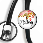 Interchangeable Personalized Stethoscope ID tag, S075 | Badges and Buttons Club