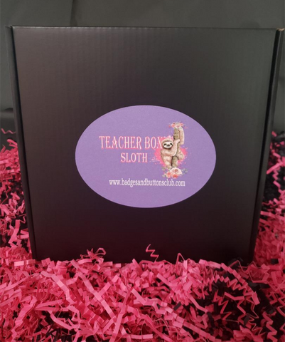 Gift Box | Teacher Box -  Sloth | Badges and Buttons Club