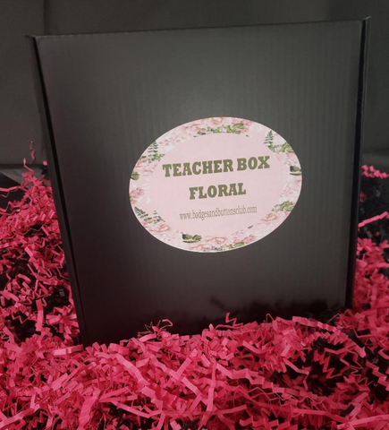 Gift Box | Teacher Box -  Floral | Badges and Buttons Club