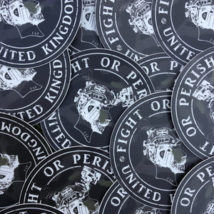 KGV Black Multi-Cam Sticker