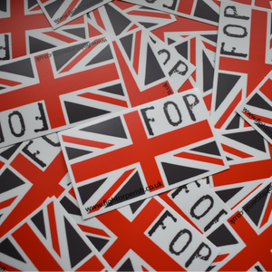 sticker, FOP UJ Sticker, union jack