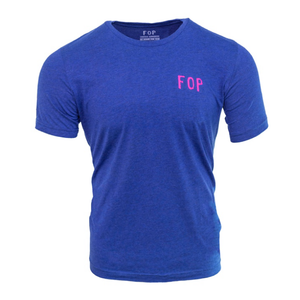 KGV T Shirt - Navy Blue/Fluoro