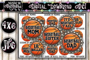 "1"" BCI Basketball Family - Bottlecap Images DIGITAL DOWNLOAD"