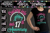 Cruising into our Birthday Anniversary Kit plus numbers 0-9 SVG DXF EPS PNG