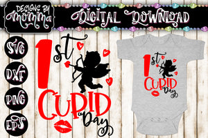 1st Cupid Day SVG DXF EPS PNG