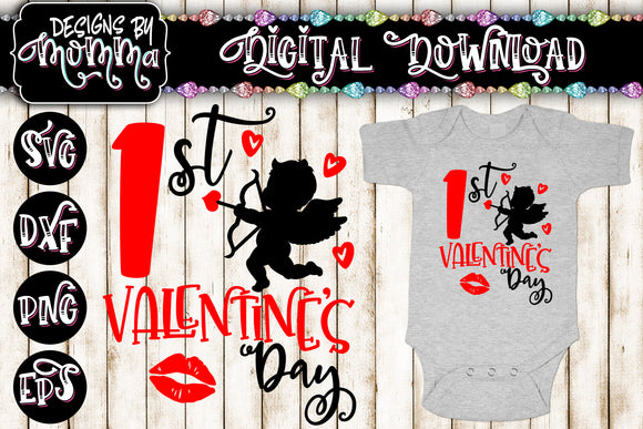 1st Valentine's Day SVG DXF EPS PNG