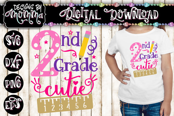 2nd Grade Cutie SVG DXF EPS PNG