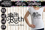 His Ruth - Her Boaz - Their Obed Set SVG DXF EPS PNG
