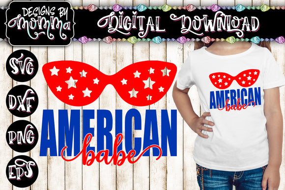 American Babe SVG DXF EPS PNG