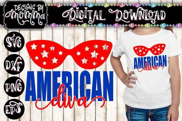 American Diva SVG DXF EPS PNG