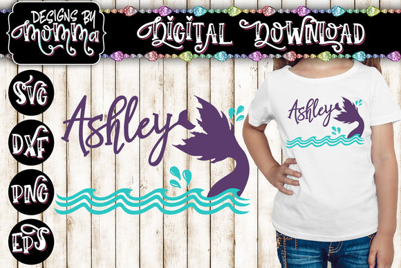 Custom - Personalized with Name Mermaid SVG DXF EPS PNG