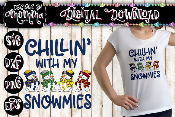 Chillin with my Snowmies Potter Wizard Houses SVG DXF EPS PNG