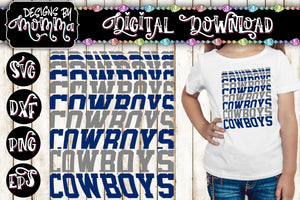 Cowboys Word Stack SVG DXF EPS PNG