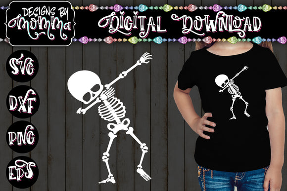 Dabbing Skeleton SVG DXF EPS PNG