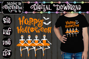 Halloween Ballerina Skeletons 2 - SVG DXF EPS PNG