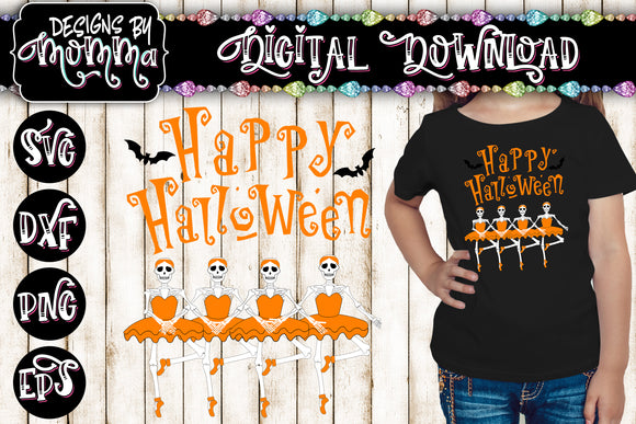 Halloween Ballerina Skeletons - SVG DXF EPS PNG