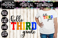 Hello Third Grade 3rd Grade Multicolor SVG DXF EPS PNG