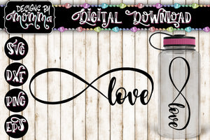 Love Infinity SVG DXF EPS PNG