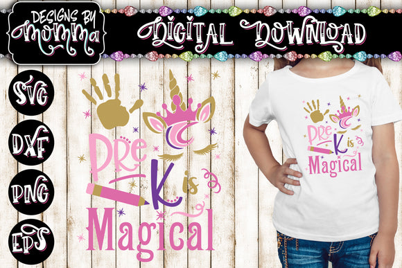 Pre K is Magical Unicorn SVG DXF EPS PNG