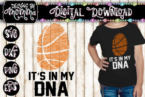 Basketball Fingerprint In my DNA SVG DXF EPS PNG