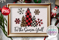 'Tis the Season Y'all Sublimation PRINTABLE PNG plus Solid SVG