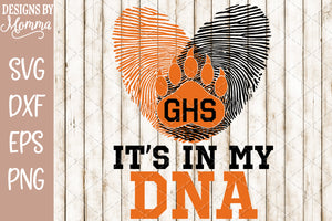 It's in my DNA Bear Fingerprint SVG DXF EPS PNG