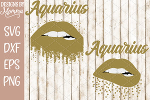 Aquarius Lips Scatter Dots SVG DXF EPS PNG