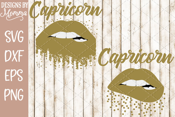 Capricorn Lips Scatter Dots SVG DXF EPS PNG