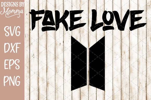 BTS Bangtan Fake Love SVG DXF EPS PNG