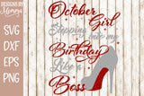 Months Set of 12 - Birthday Girl Stepping into my Birthday SVG DXF EPS PNG
