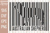 Custom Dog Breed Barcode SVG DXF EPS PNG